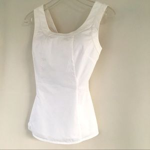 Banana Republic Ivory Cotton Sleeveless Tank Top